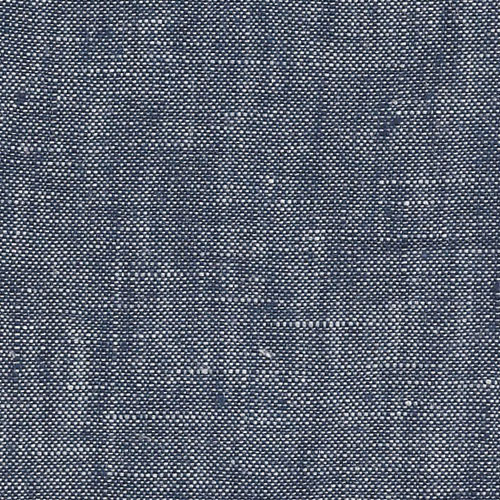 Linen Fabric Denim Washed Blue