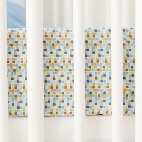 Blue Mosaic Crib Sheet | Born Wild in Blue Collection