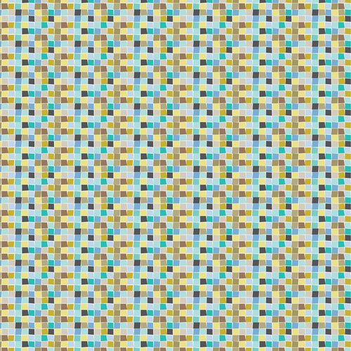 Blue Mosaic Changing Pad Cover  |  Born Wild in Blue Crib Collection