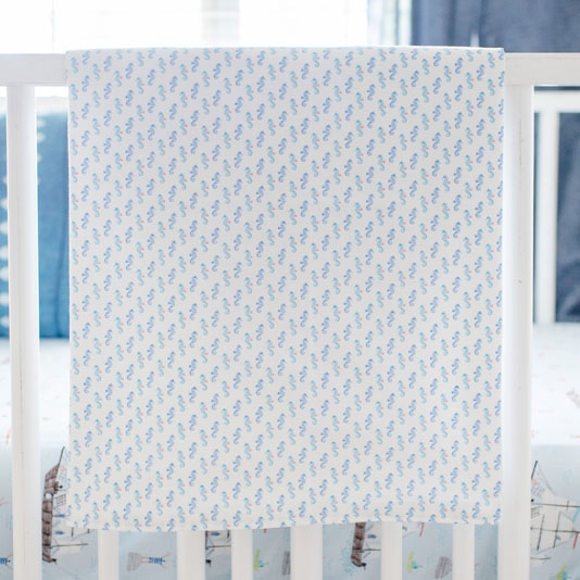 Seahorse Baby Blanket | Ahoy Matey Collection
