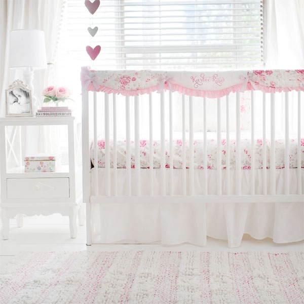 Vintage Floral Crib Bedding | Nostalgic Rose Collection