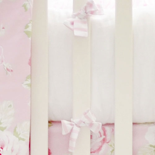 Pink and White Crib Bumper