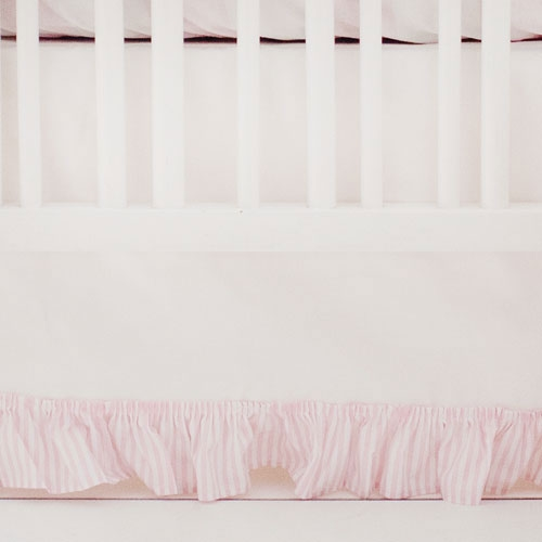 White and Pink Nursery Skirt | Pink Buffalo Check Collection