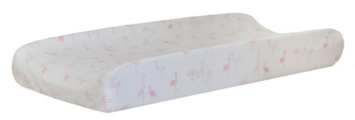 Pink Changing Pad Cover | Flamingo Baby Collection
