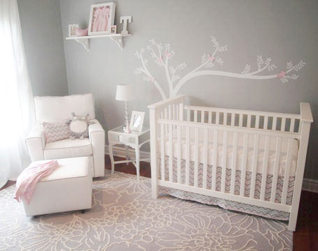 Pink And Gray Together Can Also Work For A Modern S Nursery These Same Shades In Chevron Pattern Give This Room Completely Diffe Look