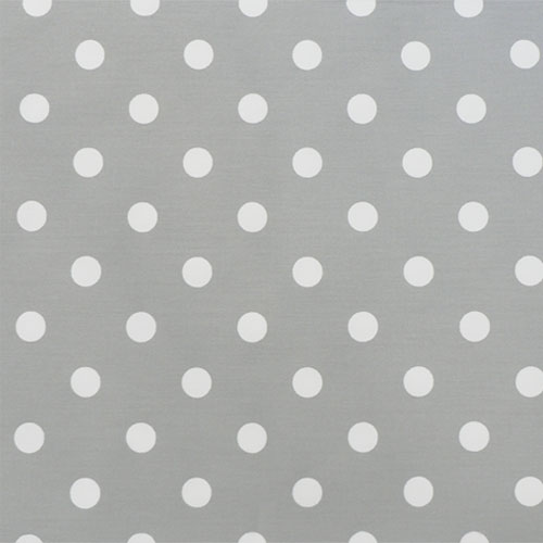 Polka Dot Fabric in Gray