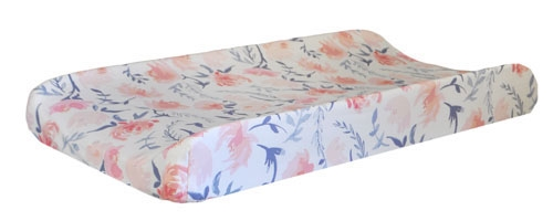 Floral Changing Pad Cover | Rosewater in Peach Crib Collection