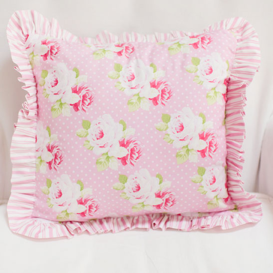 Pink Floral Pillow | Sadie's Dance in Pink Crib Collection