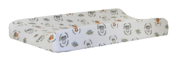 Woodland Muslin Changing Pad Cover | Saltwater Friends Crib Collection