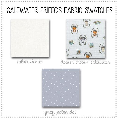 Saltwater Friends Bedding Collection Fabric Swatches Only