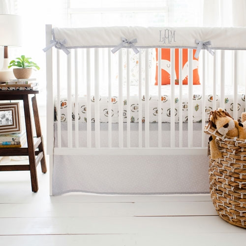 Woodland Animals Crib Rail Guard Set | Saltwater Friends Crib Collection