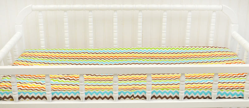 Multi Chevron Changing Pad Cover  |  Sante Fe Crib Collection