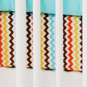 Multi Chevron Crib Sheet | Sante Fe Collection