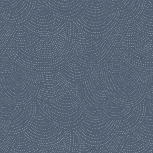 Dear Stella Design Scallop Dot Denim Fabric