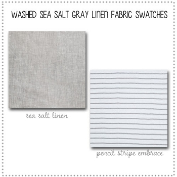Washed Sea Salt Gray Linen Crib Collection Fabric Swatches Only