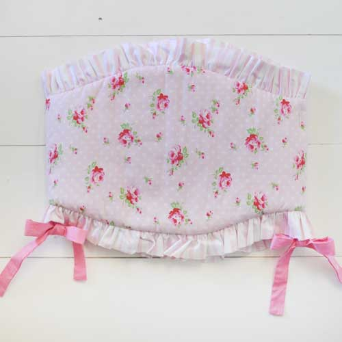Shabby Rosebud Crib Rail Guard