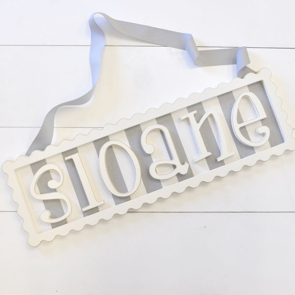 Scalloped Frame Personalized Plaque - 6 Letters