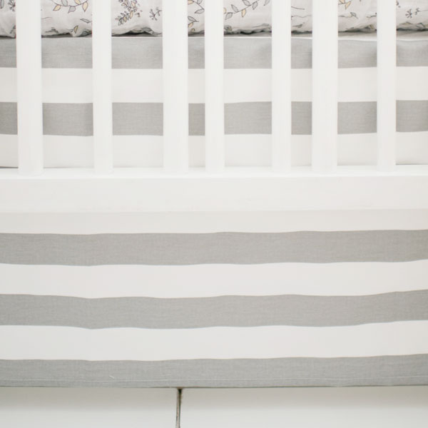 Striped Crib Skirt | Small Wonders & Laguna Beach Crib Collections