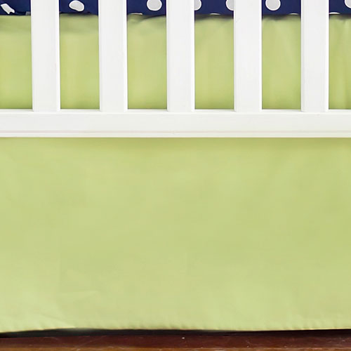 Cotton Green Solid Tailored Crib Skirt