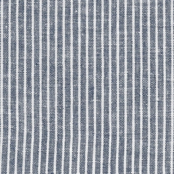 Stripe Navy Linen Changing Pad Cover |  Washed Linen Indigo Stripe Crib Collection