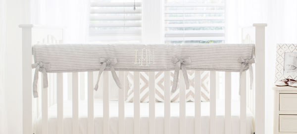 Crib Rail Cover | Navy Buffalo Baby Bedding Collection