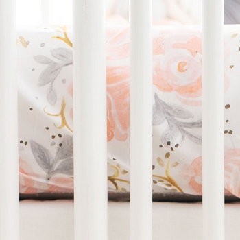 Floral Crib Sheet | Briar Rose Collection