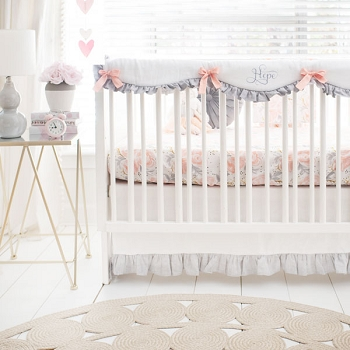 Floral Crib Set | Briar Rose Bedding Collection