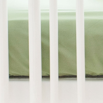 Green Crib Sheet | Gingham Collection