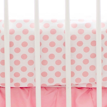 Coral Polka Dot Crib Sheet | Mix and Match Collection
