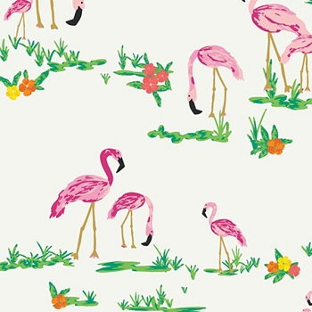 Art Gallery Fabrics Flamingo Field Pearl