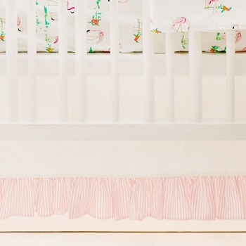 Crib Dust Ruffle | Flamingo Island Crib Collection