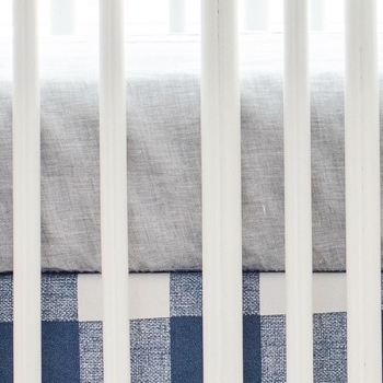 Gray Linen Crib Sheet