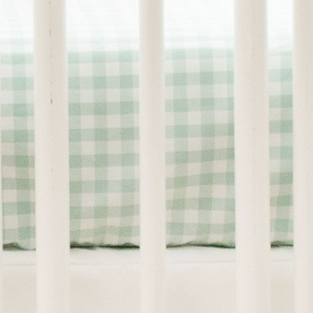 Green Gingham Crib Sheet