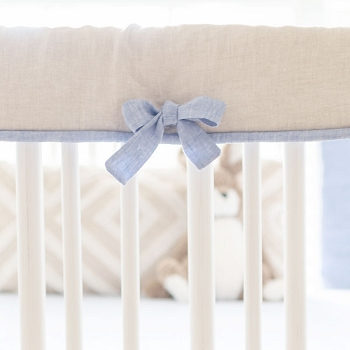 Crib Rail Protector | Washed Linen in Half Moon Bay Collection