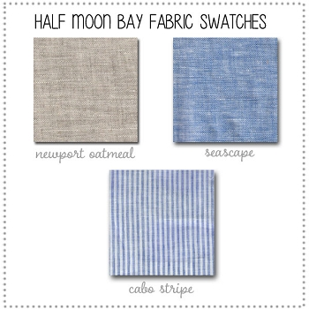 Half Moon Bay Linen Bedding Collection Fabric Swatches Only