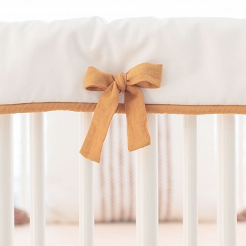 White Crib Rail Cover | Keeping Watch Collection