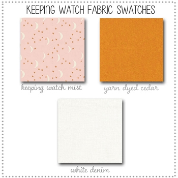 Keeping Watch Crib Collection Fabric Swatches Only