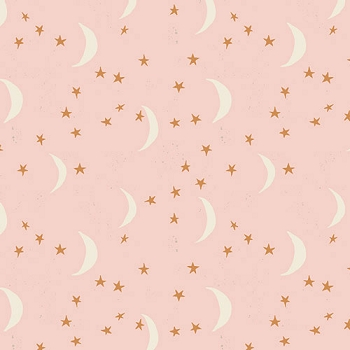 Stars and Moon Fabric | Keeping Watch Mist Metallic