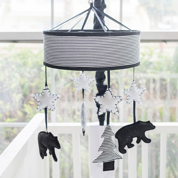 Woodland Baby Mobile | Little Black Bear Collection