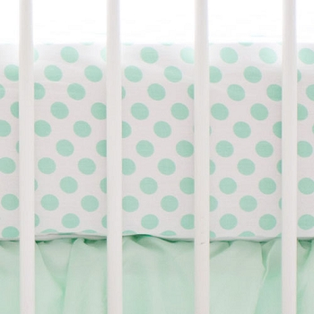 Mint Polka Dot Crib Sheet | Mix and Match Collection