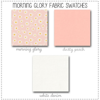 Morning Glory Crib Collection Fabric Swatches Only