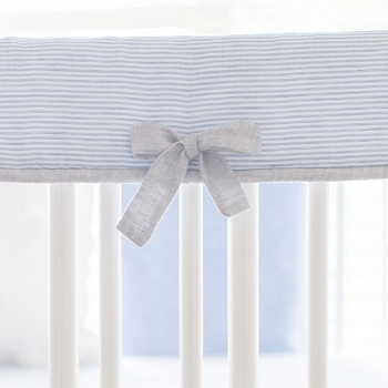 Crib Rail Protector | Washed Linen in Nantucket Collection