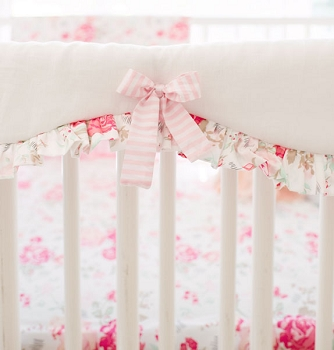 Pink Crib Guard | Nostalgic Rose Collection