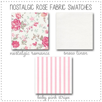 Nostalgic Rose Crib Collection Fabric Swatches Only