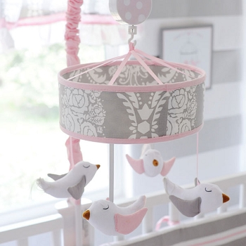 Pink and Gray Baby Mobile | Olivia Rose Collection