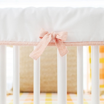White Crib Rail Cover | Picnic Plaid Collection