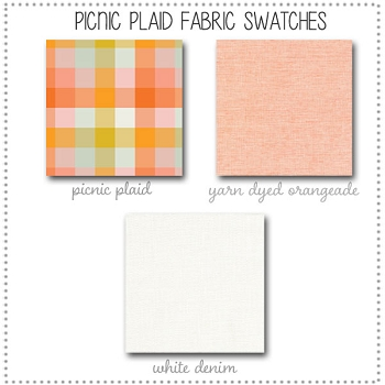Picnic Plaid Crib Collection Fabric Swatches Only