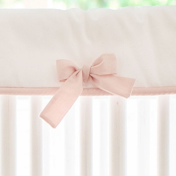 Pink and White Crib Rail Cover