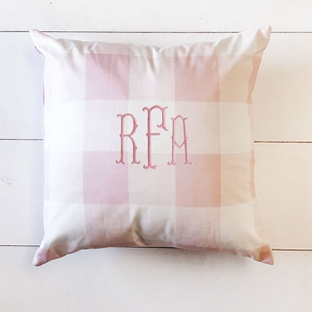 Buffalo Plaid Throw Pillow | Pink Collection