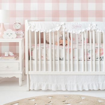 Baby Girl Crib Bedding | Rose Bouquet Collection